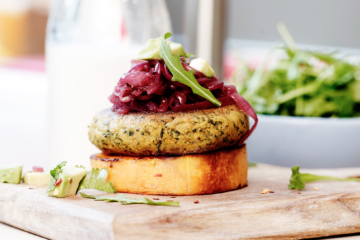 EYB Sweet Potato Millet Burger